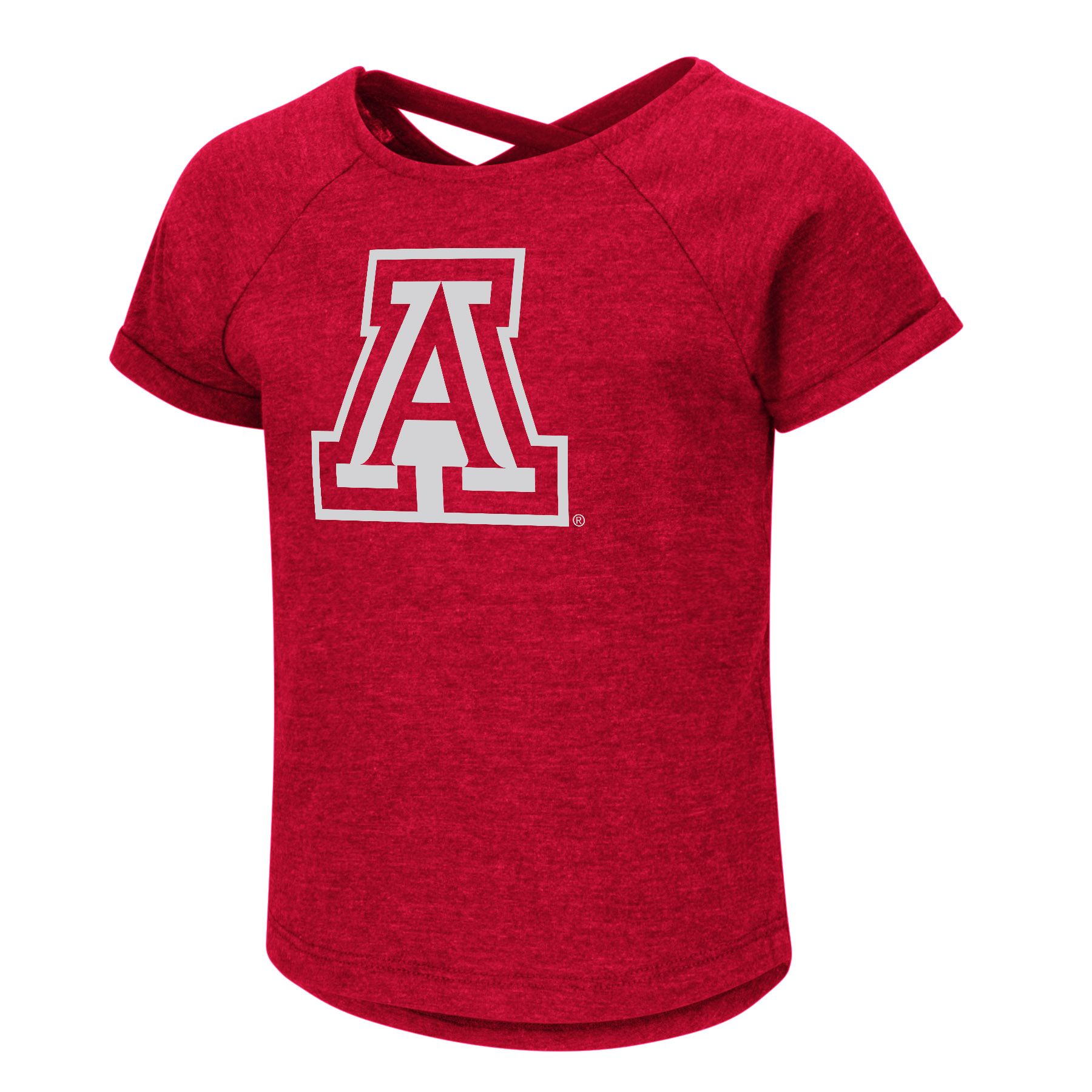 Image For Colosseum:Arizona Toddler Girls Dabba Crossback Tee - Red