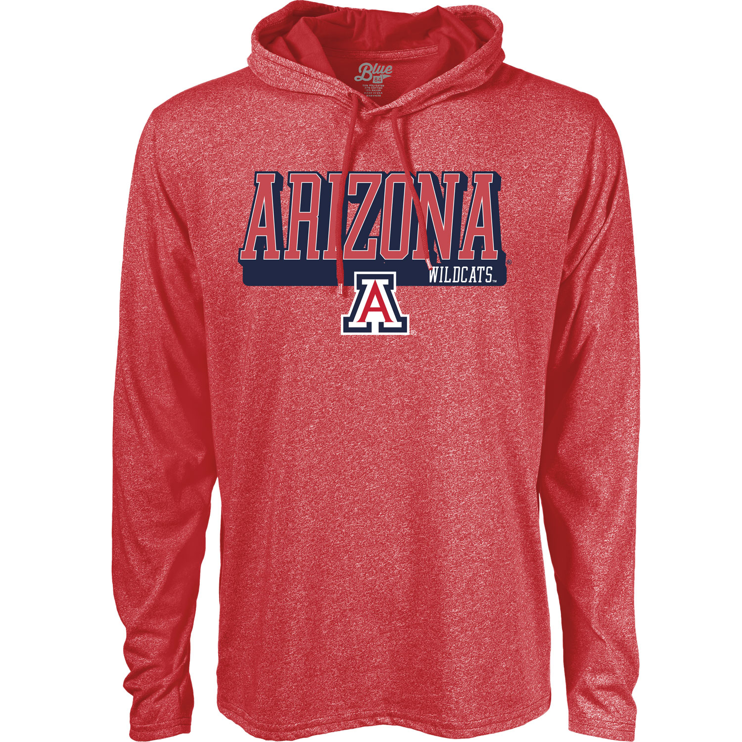 Image For Blue 84: Arizona Wildcats Long Sleeve Hood - Red
