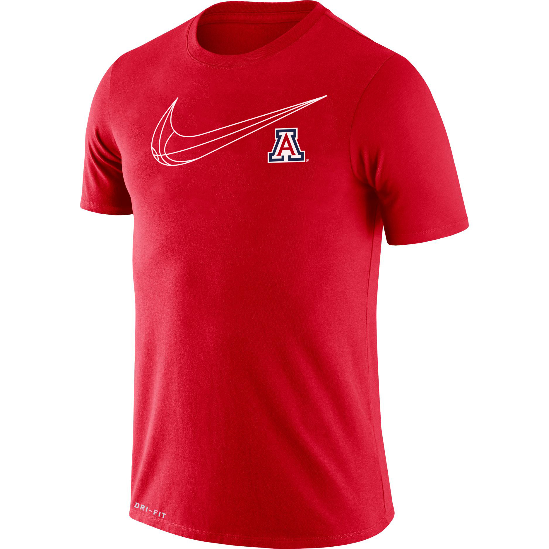 Image For Nike: Arizona Basketball Men's Cotton Dri-Fit Tee - Red