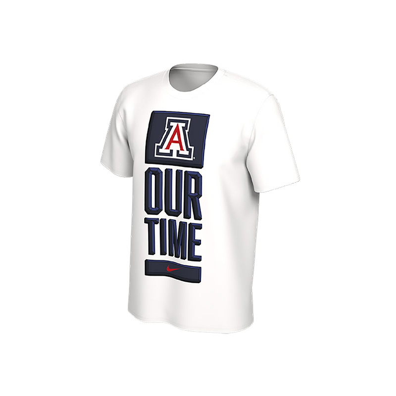 Image For Arizona Basketball YOUTH OUR TIME Bench Tee