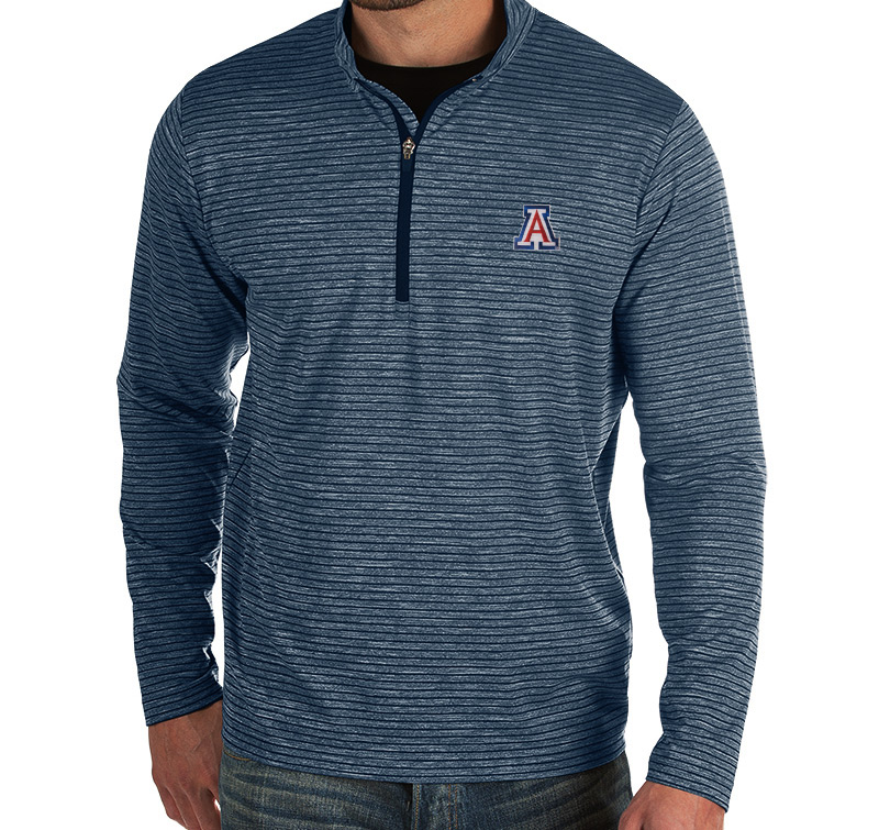 Image For Antigua: Arizona Capacity 1/4 Zipp Pullover - Navy Heather