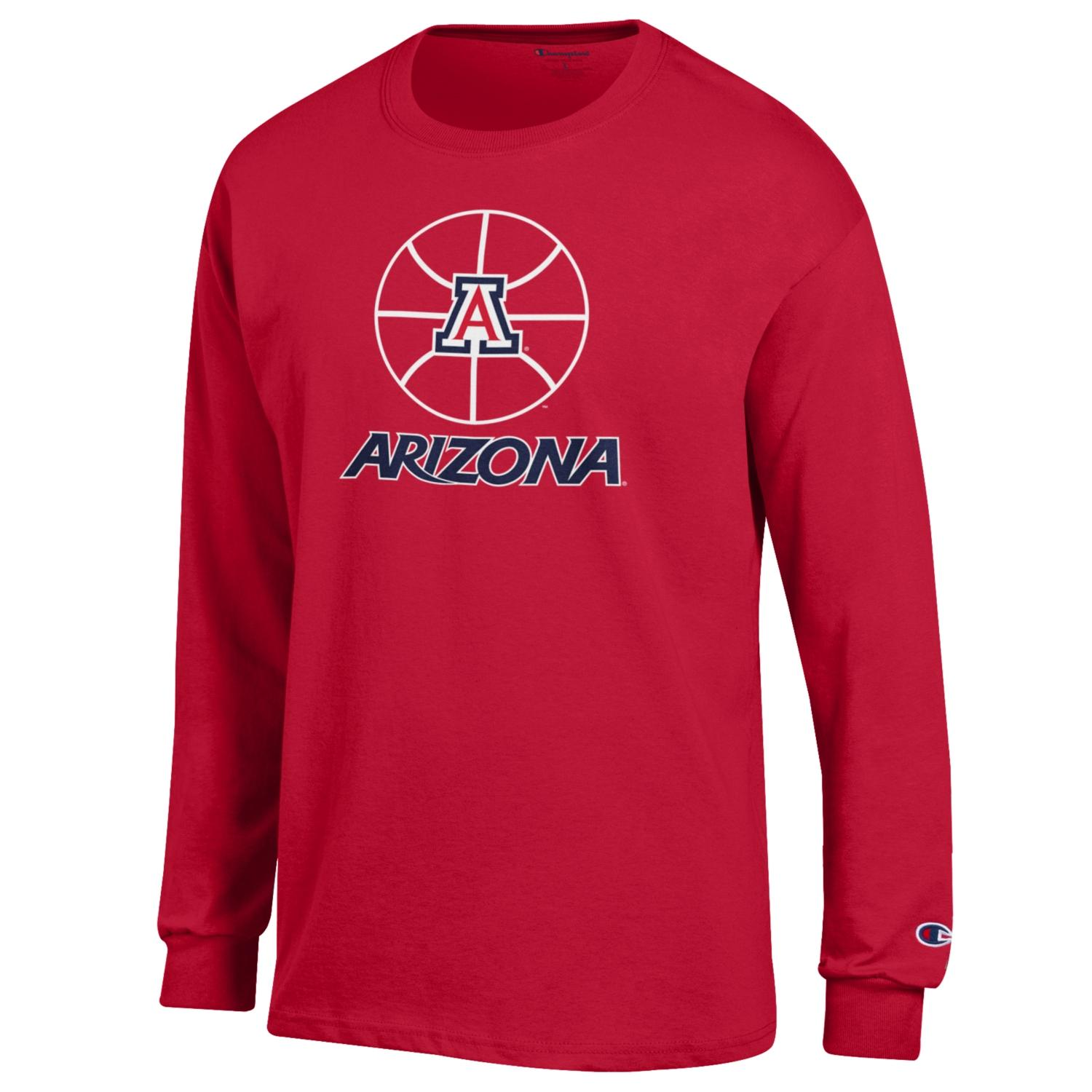Image For Champion: Arizona Basketball Icon Long Sleeve Tee - Red