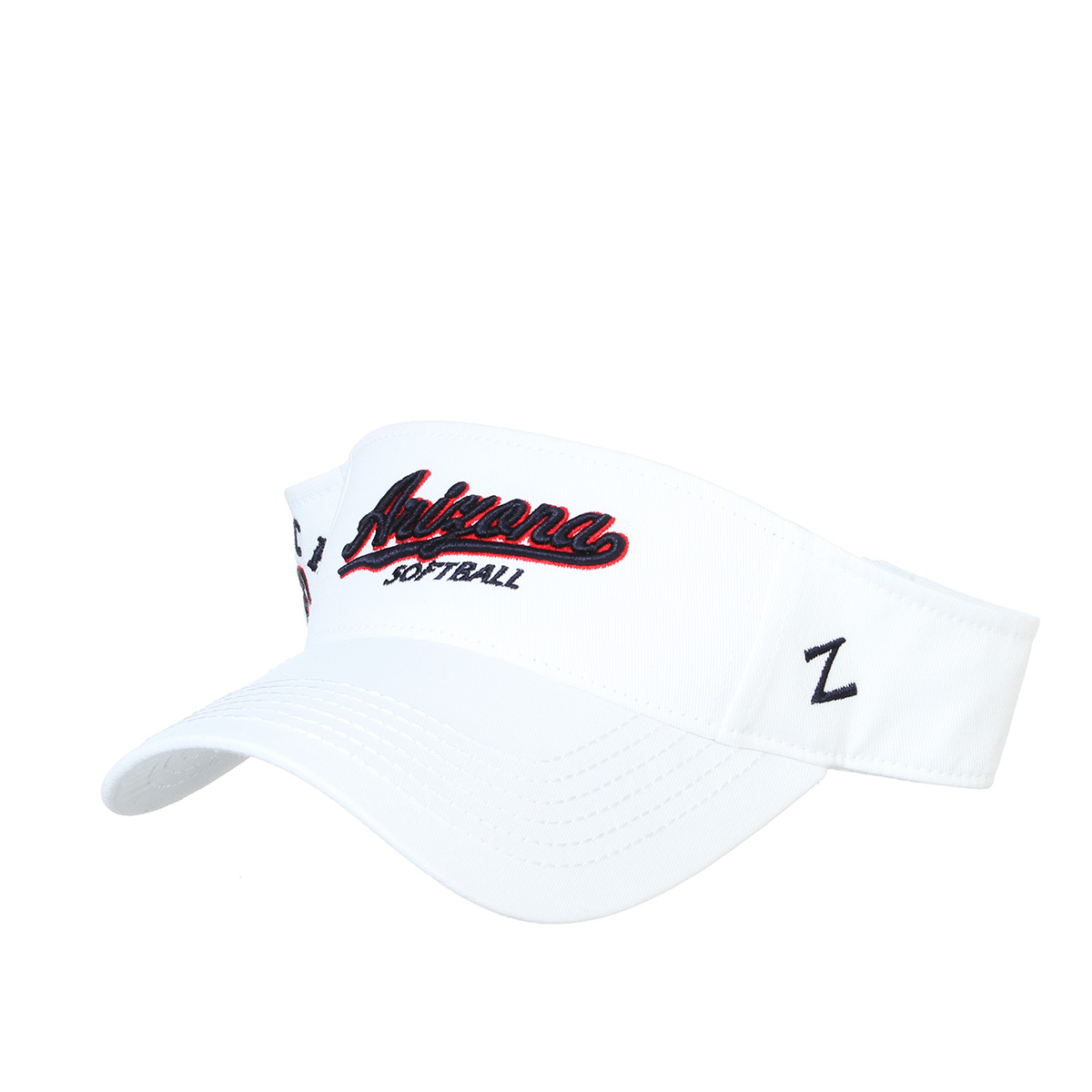 Image For Zephyr: Arizona Softball Jenny Finch #27 Visor Cap - White