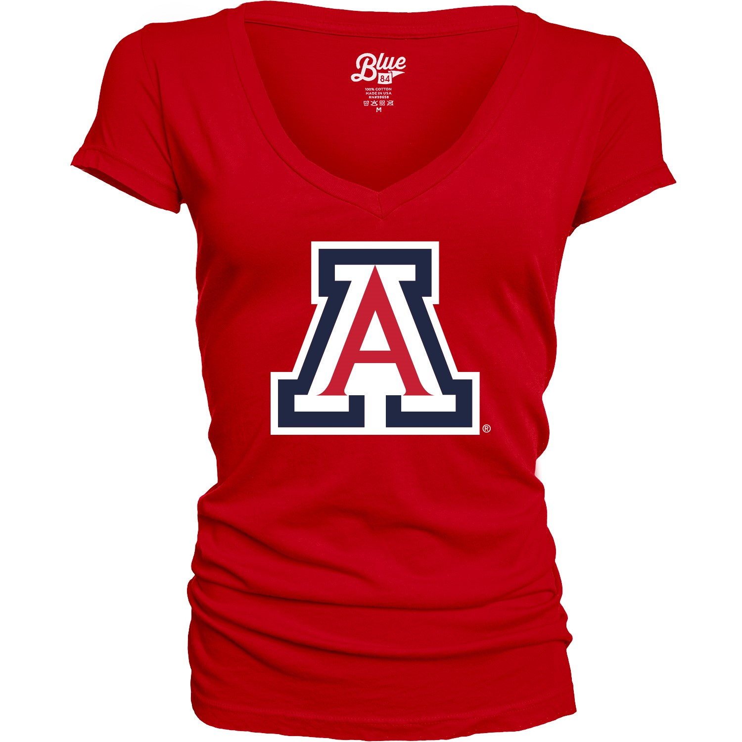Image For Blue 84: Arizona Women's V-Neck Basis Oasis Tee - Red