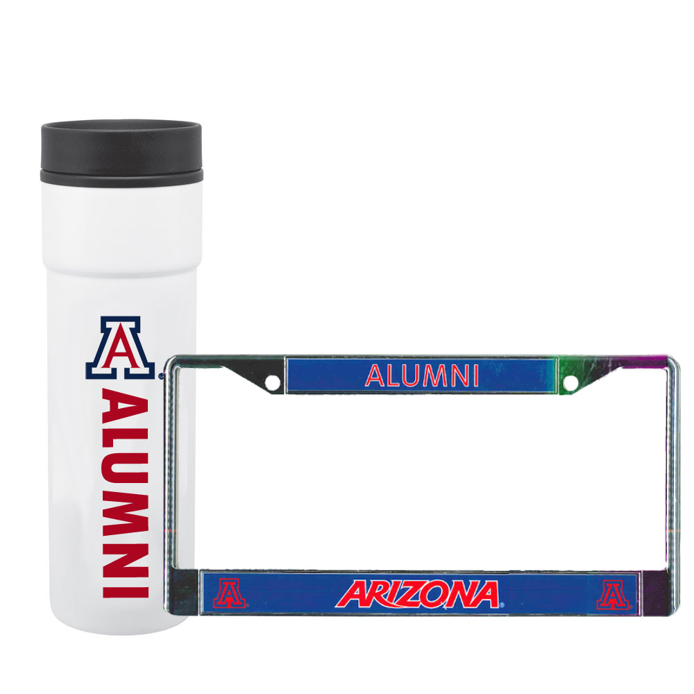 Image For Arizona Graduation Tumbler & License Plate Frame Bundle