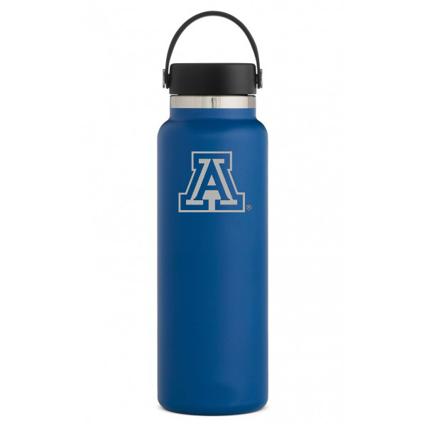 Image For Hydro Flask: Arizona Team Logo 40 oz Wide Mouth - Cobalt