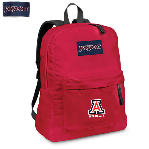 Image For JanSport Superbreak Backpack Arizona Wildcats Red