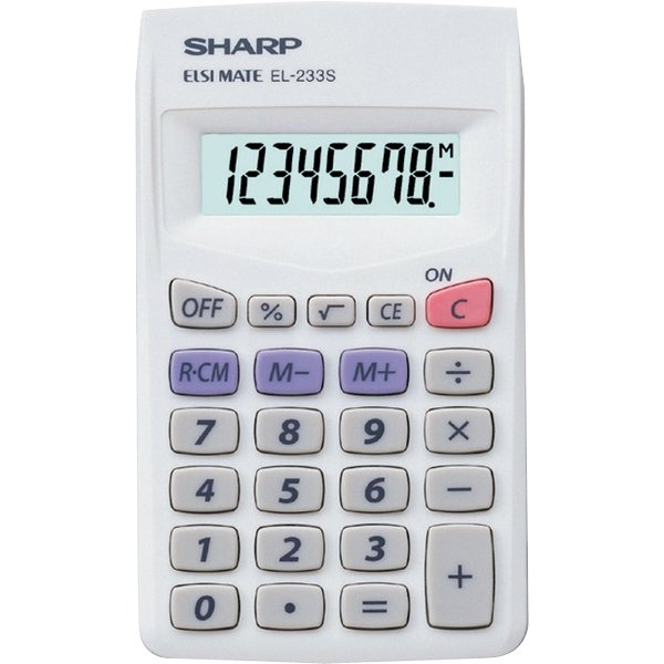 Image For Sharp: EL-233SB 8-Digit Display Calculator