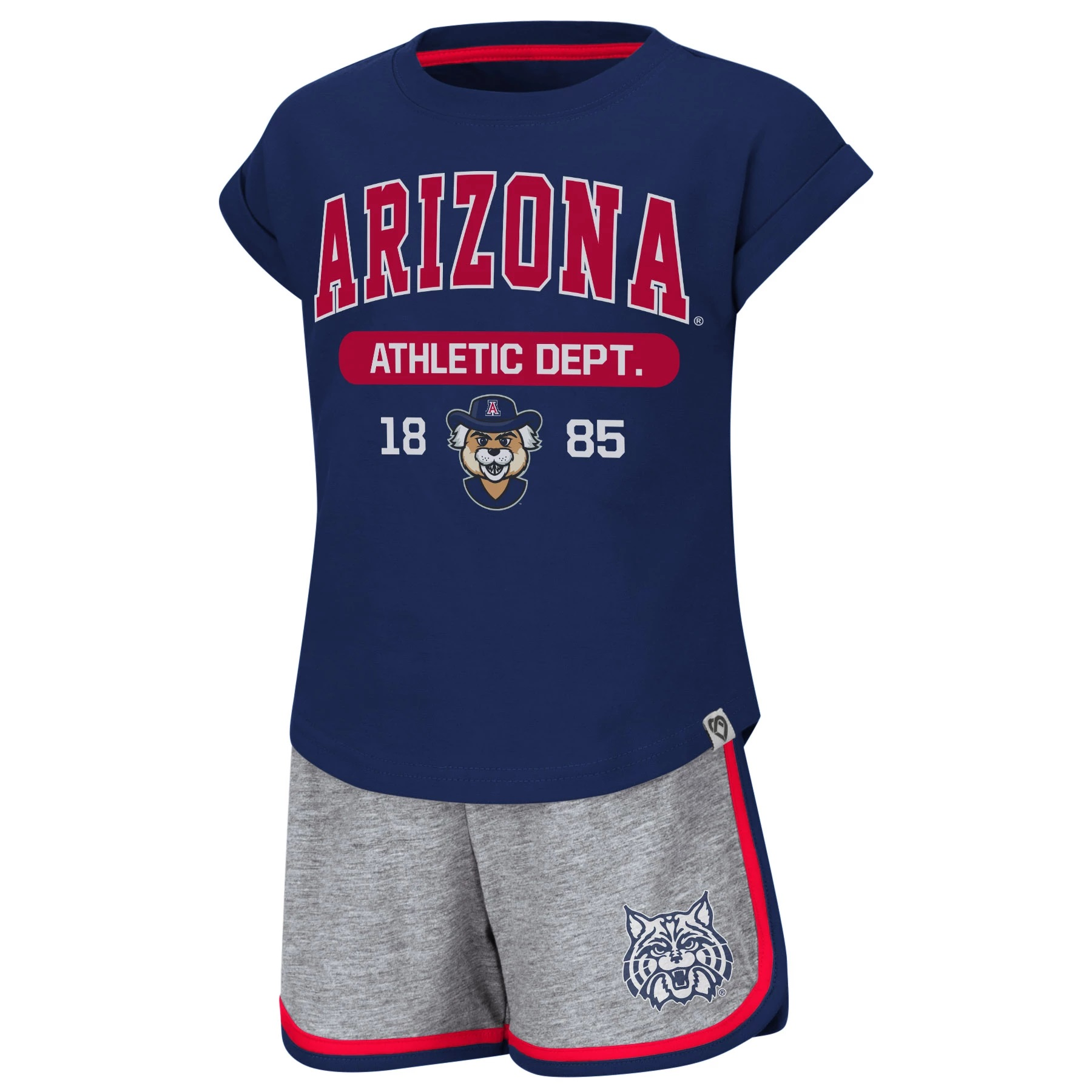 Image For Colosseum: Arizona Girls Toddler Charge It T-Shirt & Shorts