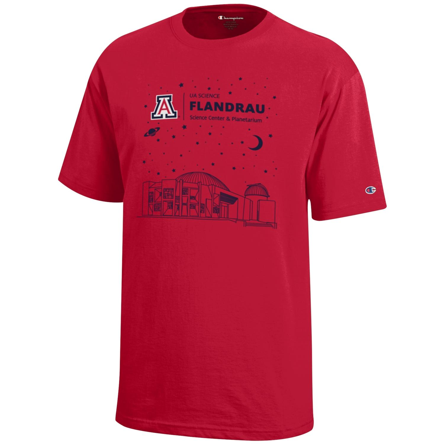 Image For Arizona FLANDRAU Science Center & Planetarium Youth Red Tee