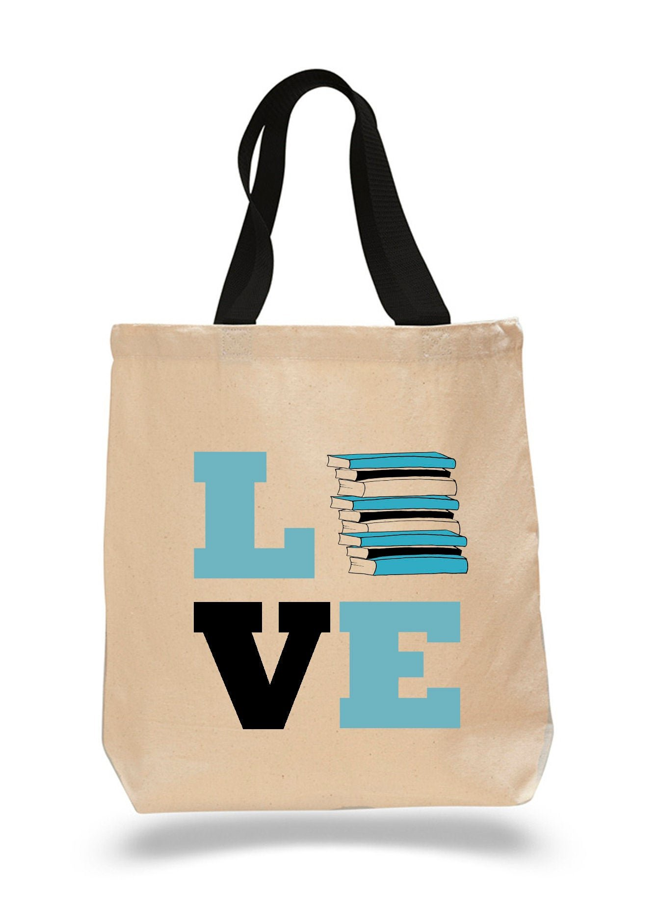 Image For Love Books-Cotton Canvas Book Bag