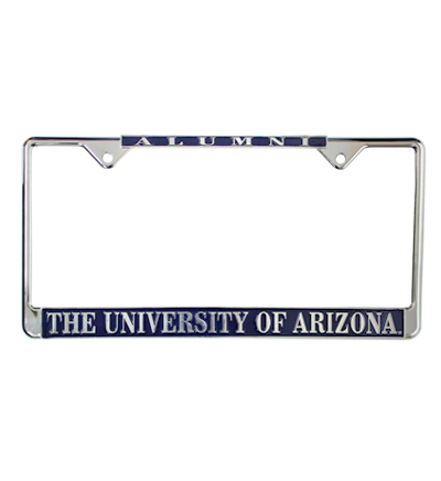 Image For License Plate Frame: Alumni University of Arizona (Silver)