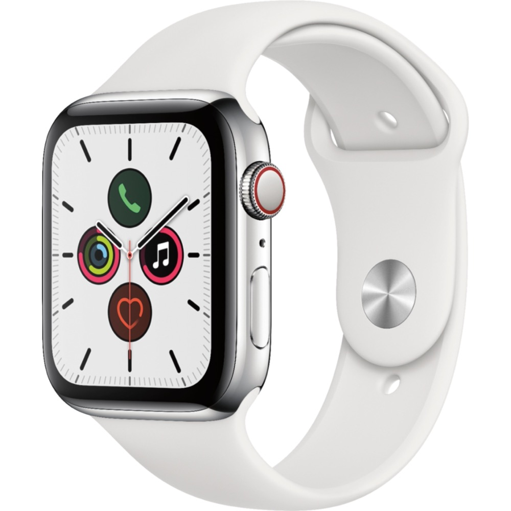 Image For Apple Watch Series 5 Silver Stainless (GPS+Cellular) 44mm