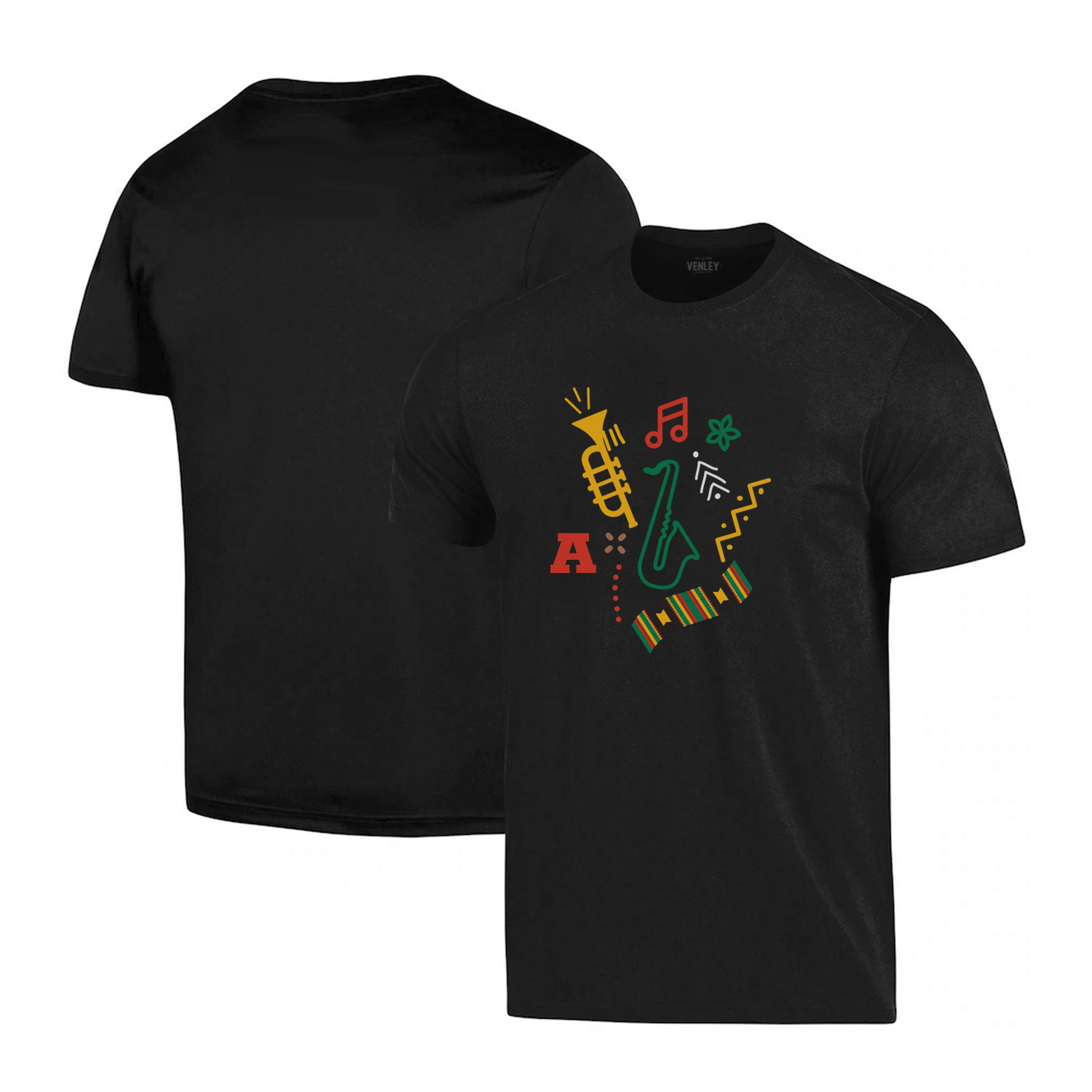 Image For Arizona Black History Month Music Icon Logo Tee