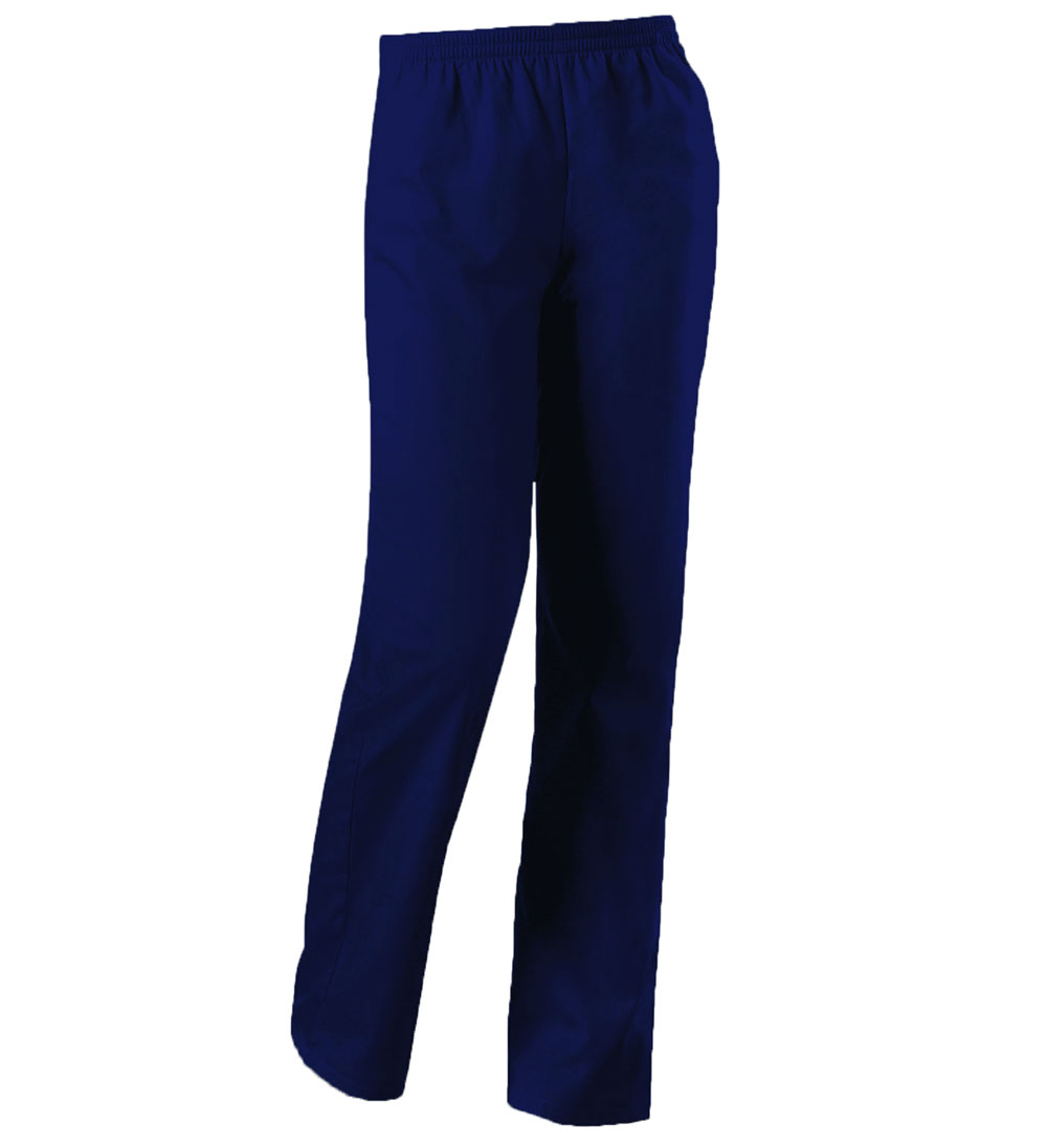 Image For Cherokee: Natural Rise Tapered Leg Pull-On Pant Women Navy