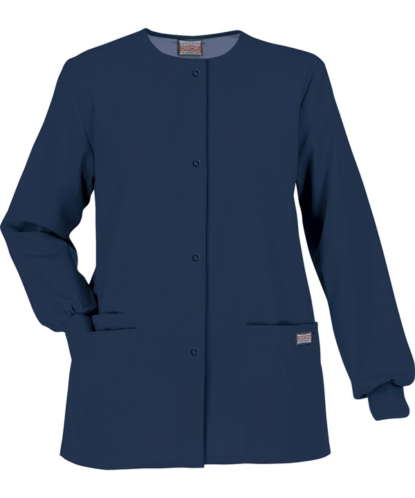 Image For Cherokee: Workwear Women's Scrubs Snap Front Jacket