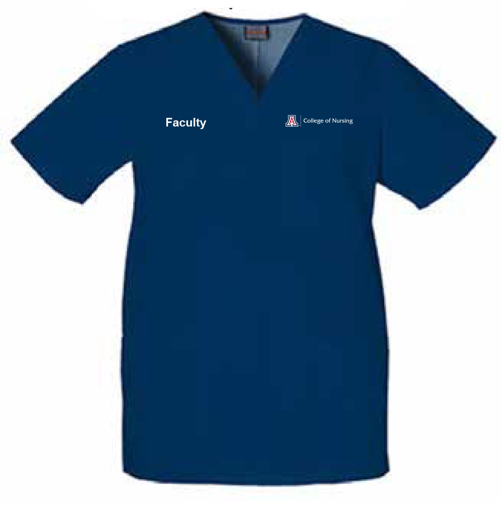Image For FACULTY College of Nursing Unisex V-Neck Solid Scrub