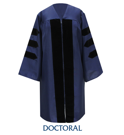 Image For PHD Doctor Graduation Regalia Gowns
